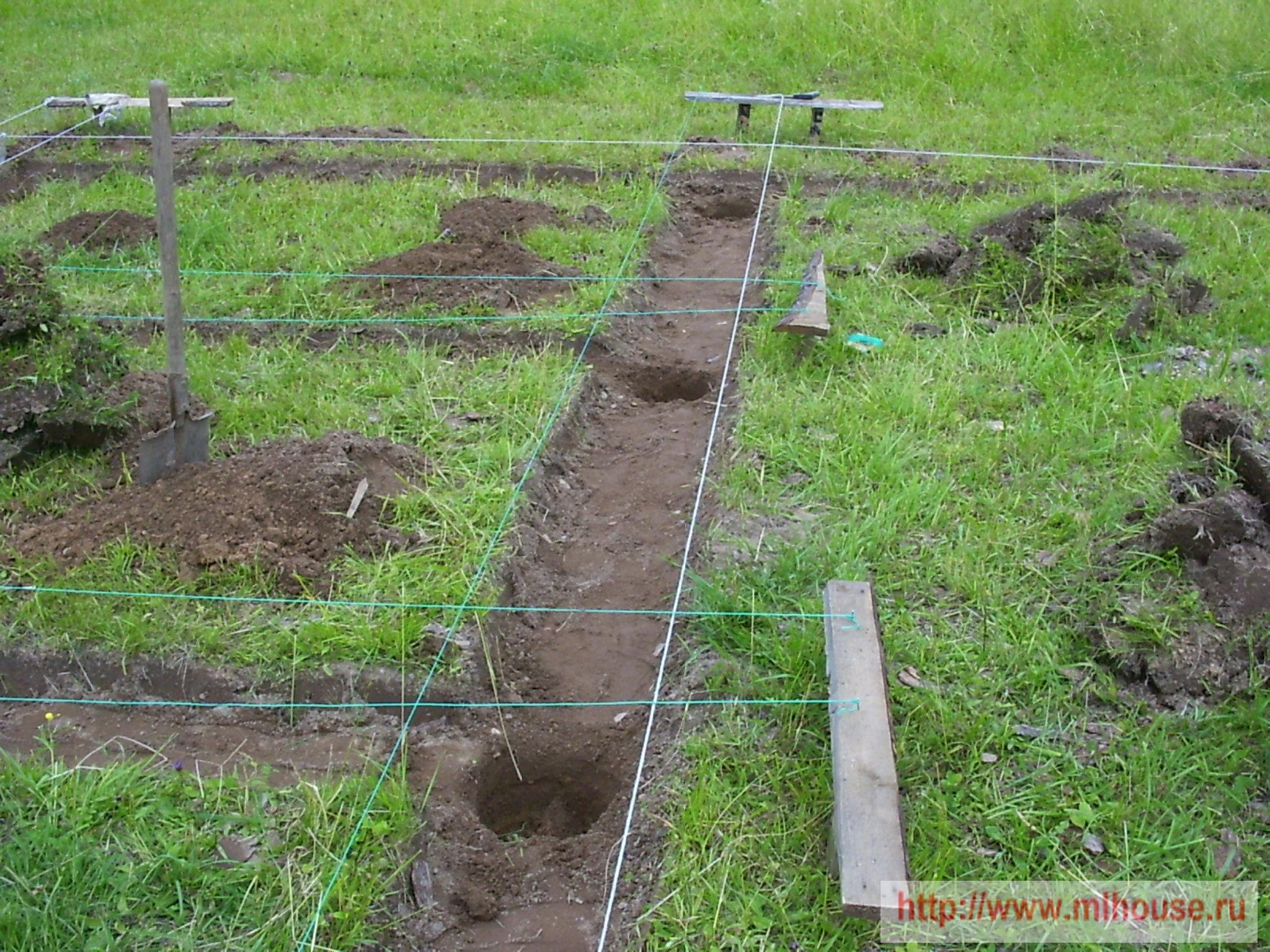 Как сделать яму для фундамента 685