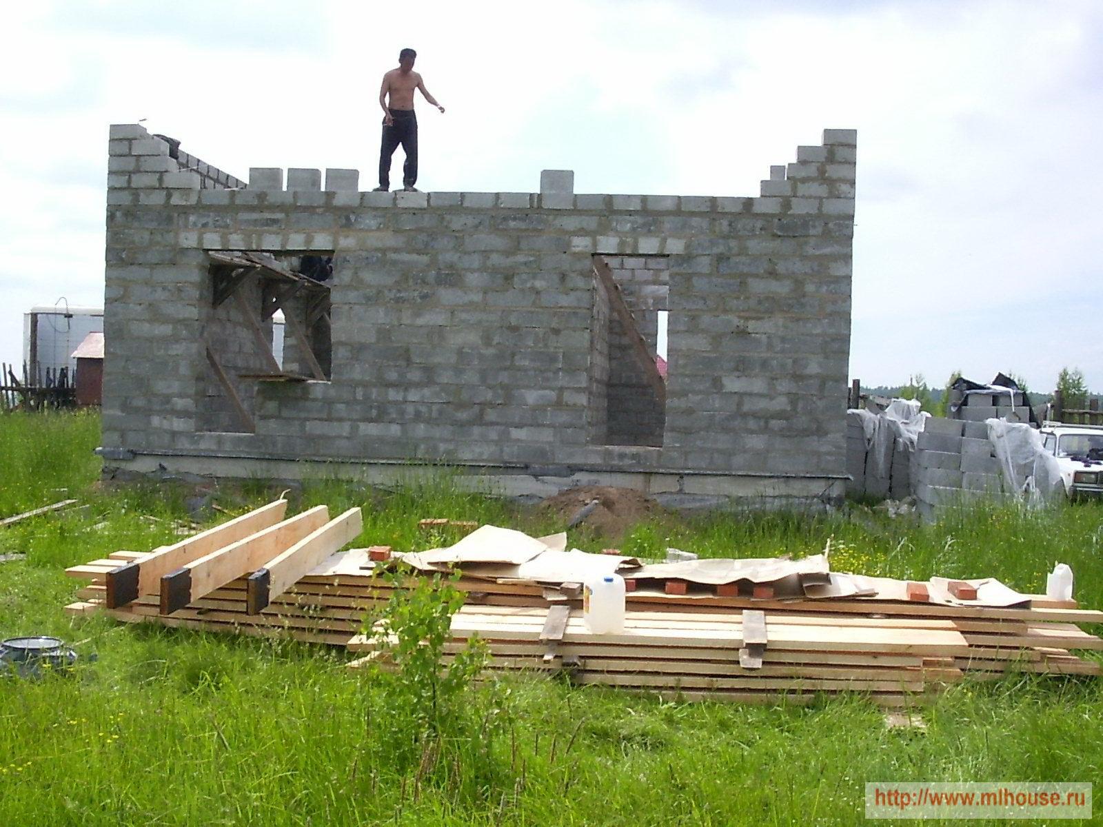 Строительство стен дома. Строительство перегородок. Как