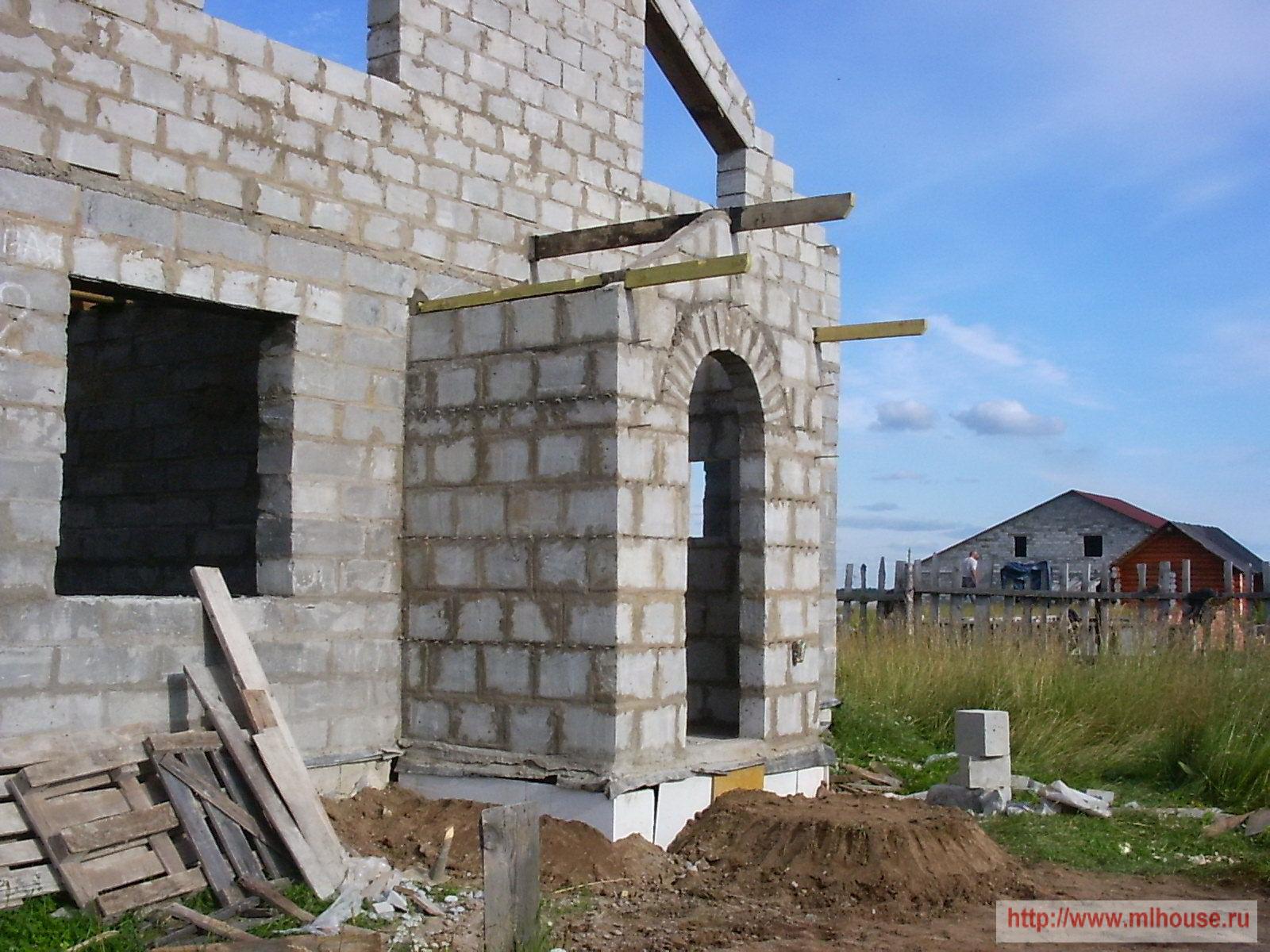 Строительство крыльца из кирпича своими руками