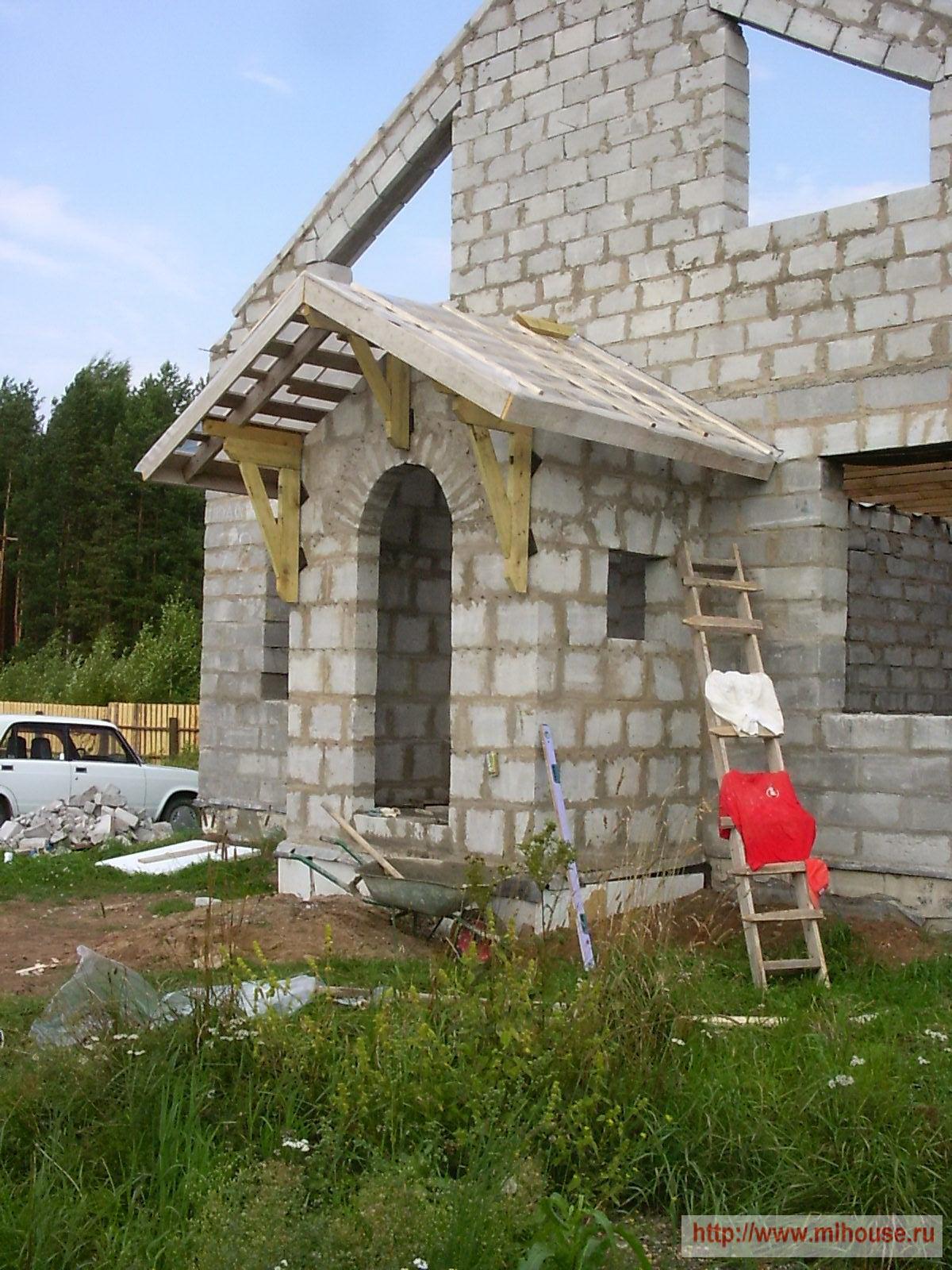 Крыша в садовом доме своими руками
