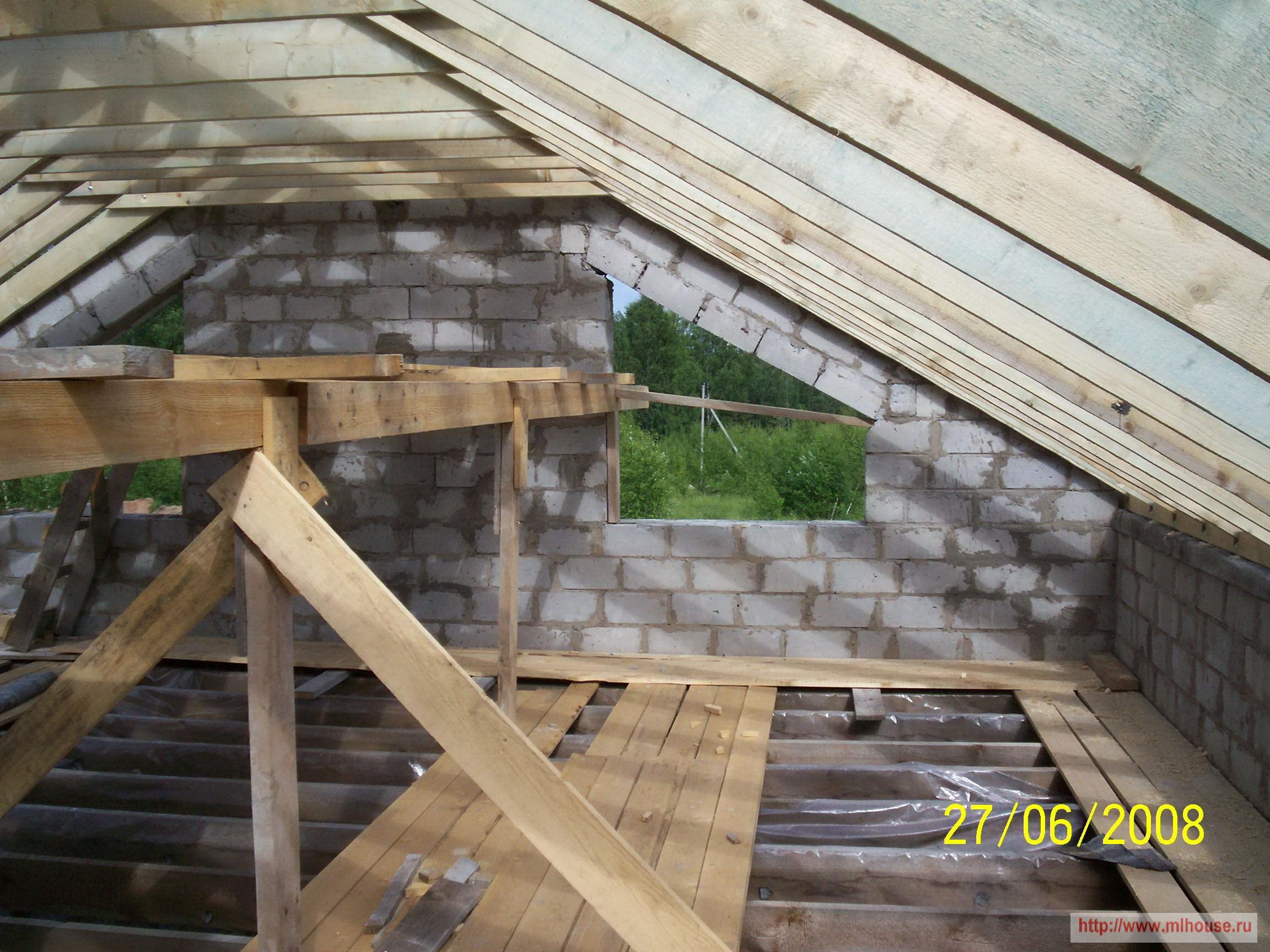 Строим мансарду крыши своими руками
