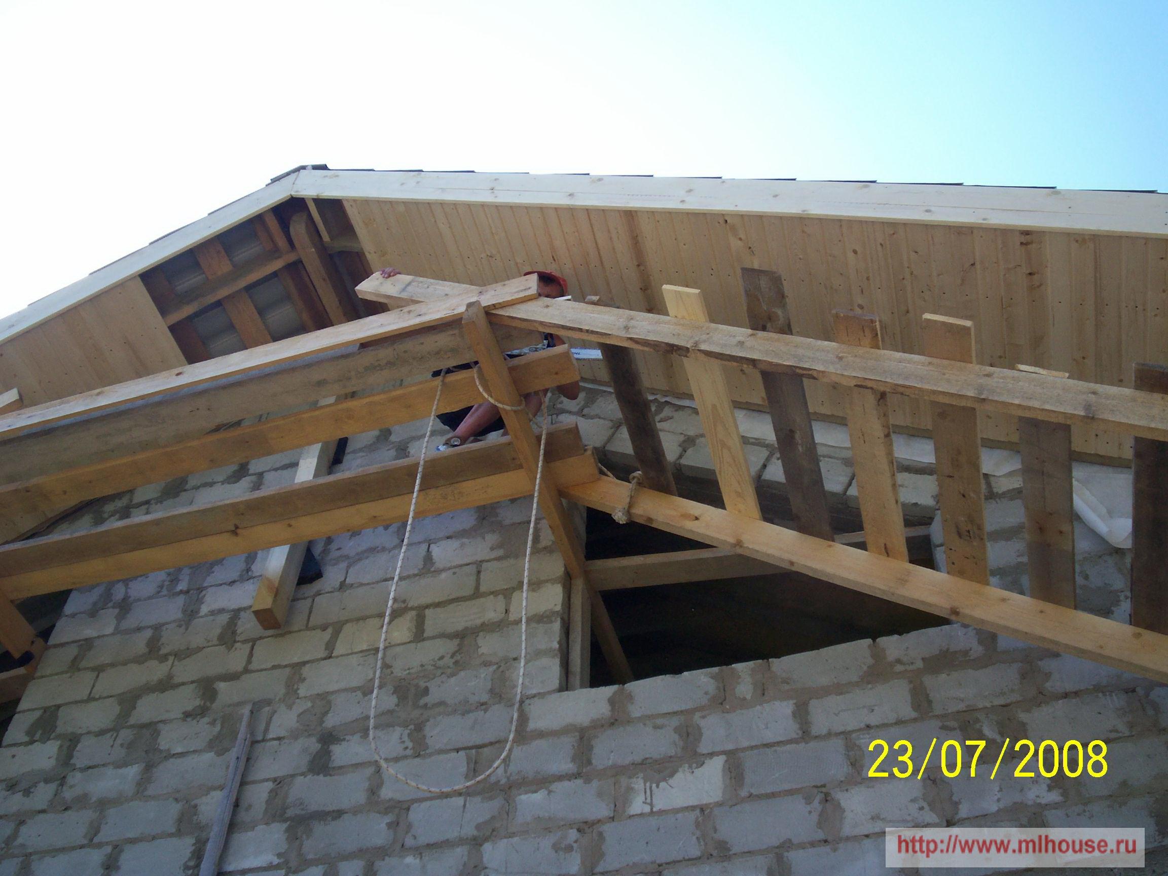 Крыша с фронтоном своими руками