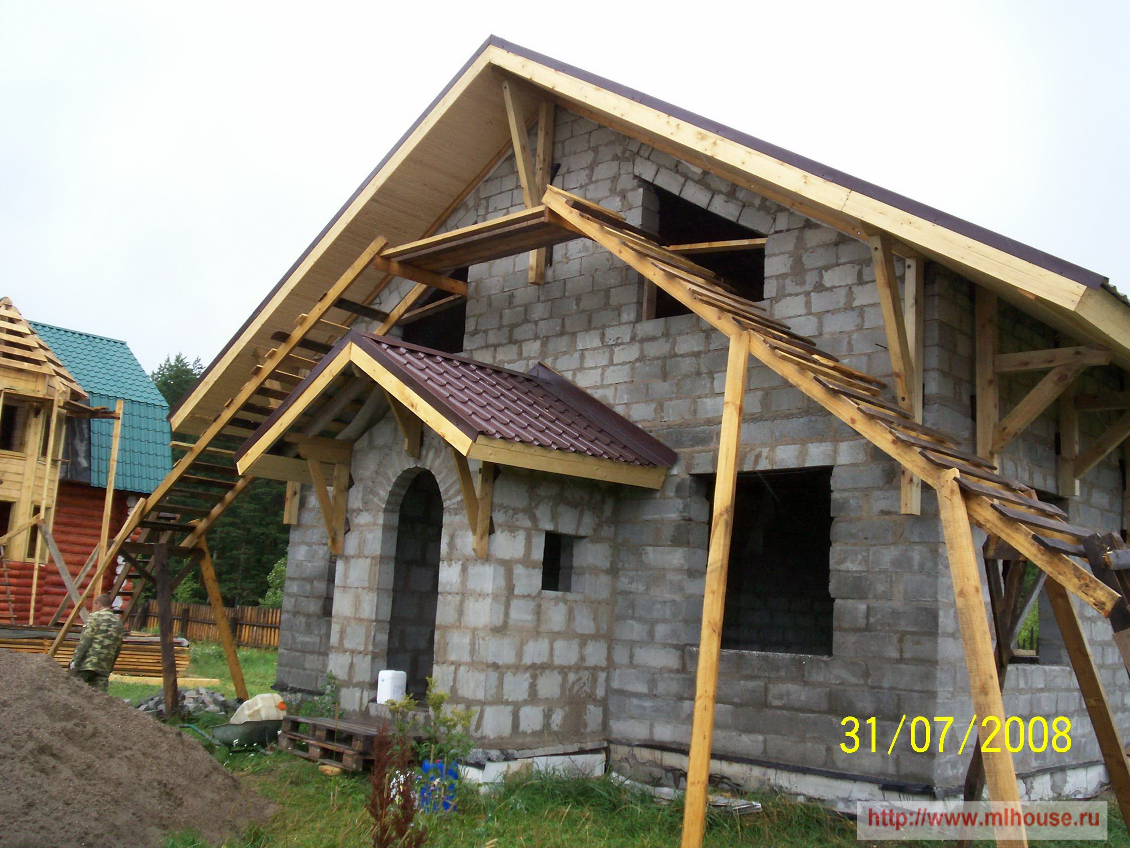 Dacha House With His Hands Build My House Roof