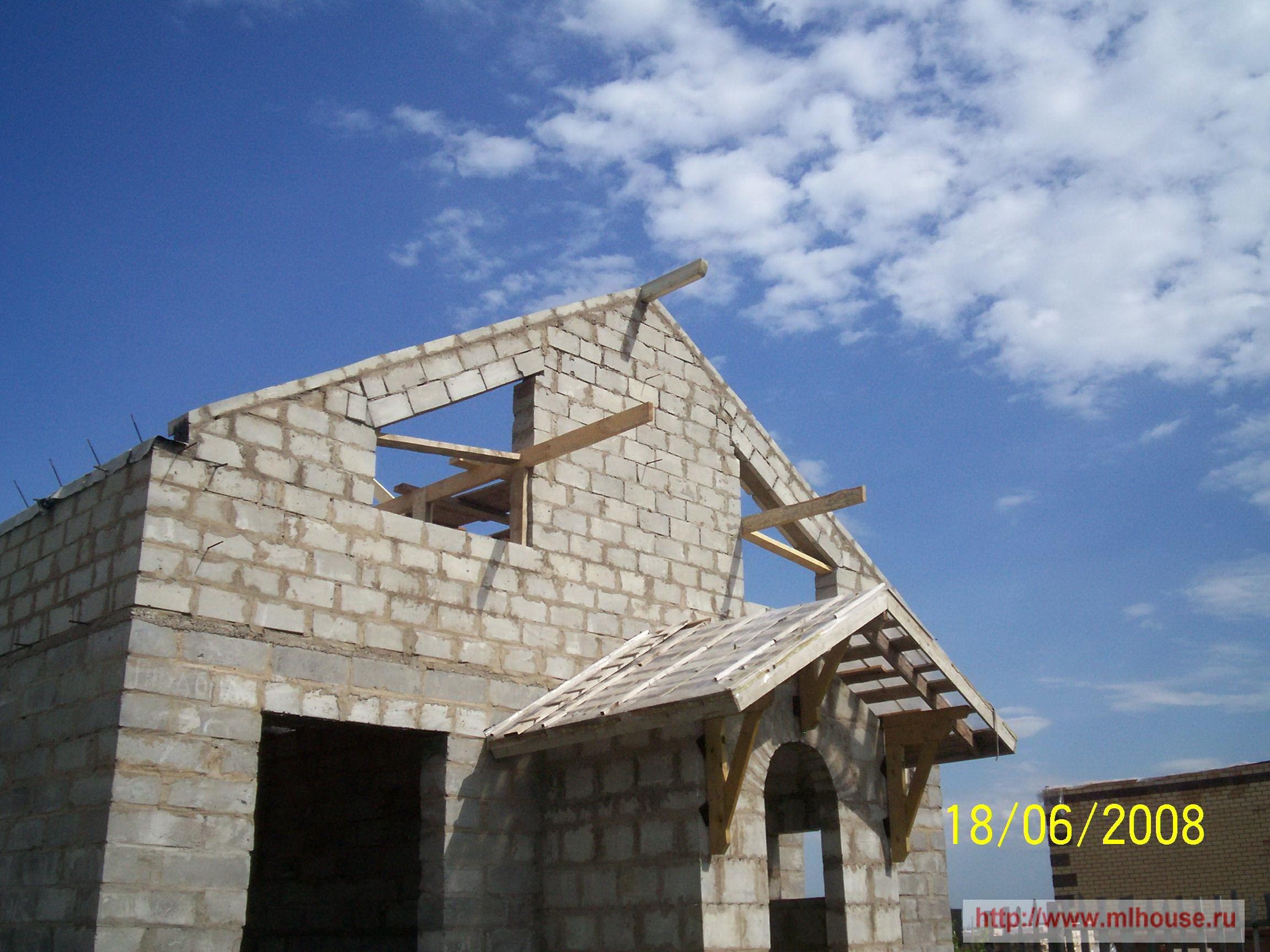 Крышу своими руками для дома из пенобетона