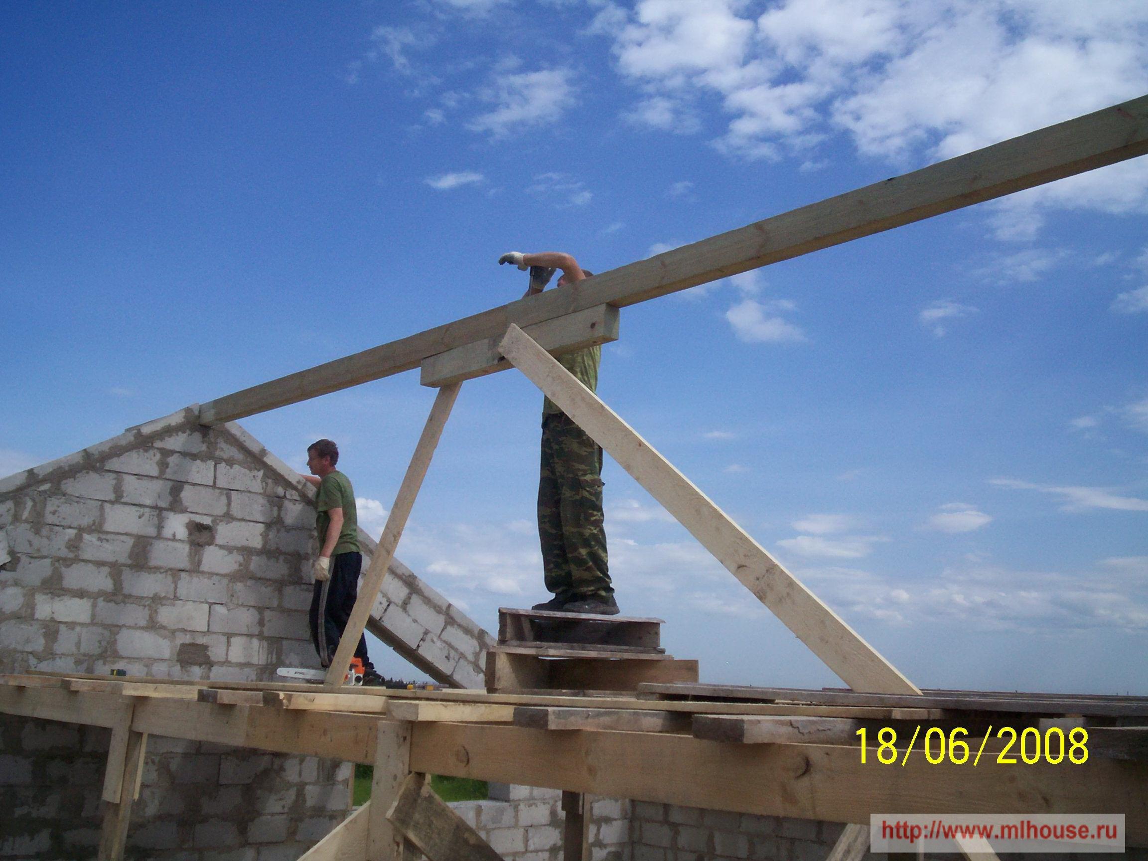 Как поставить крышу дома своими руками 40