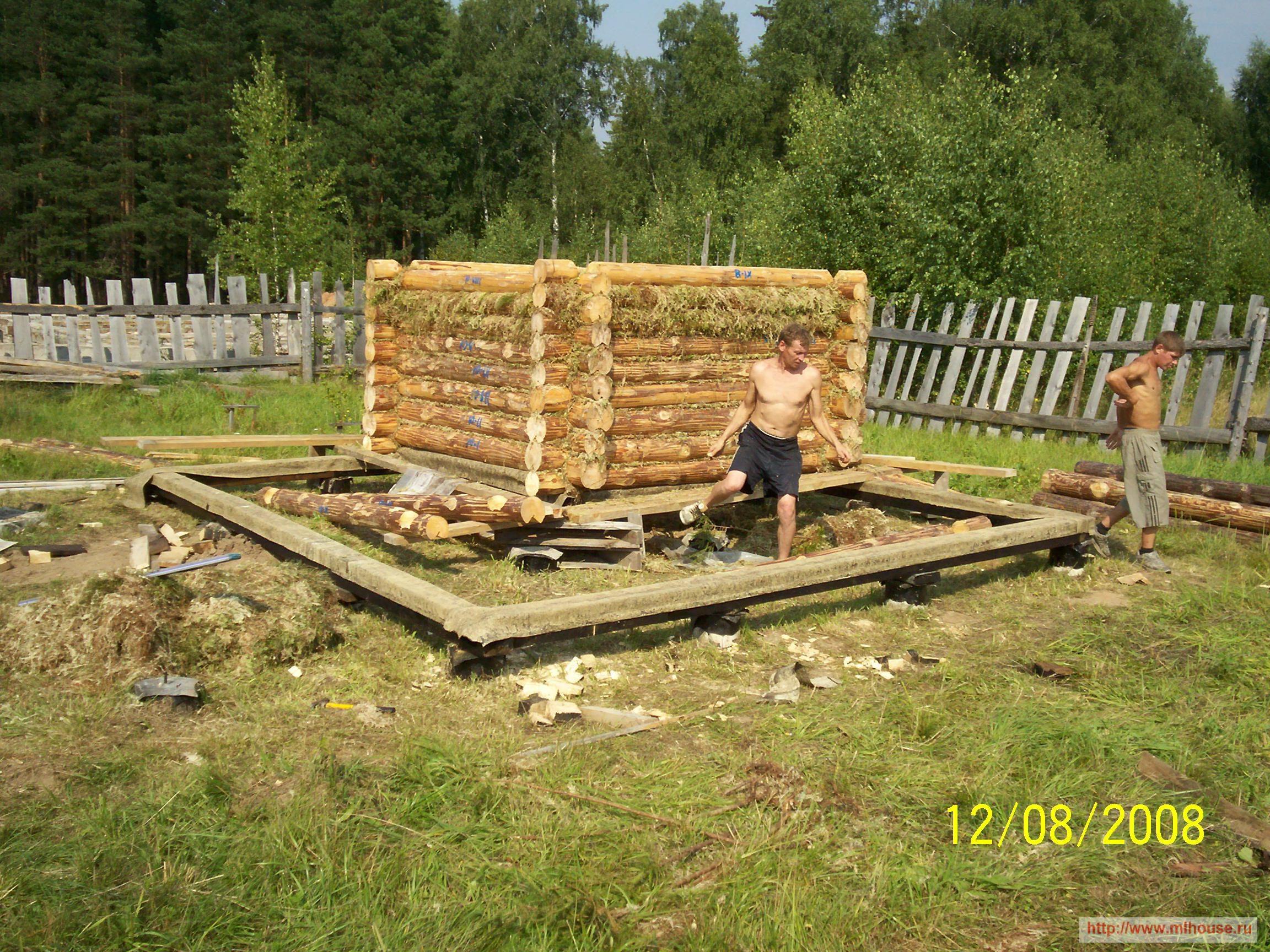 Строительство бани своими руками от и до видео
