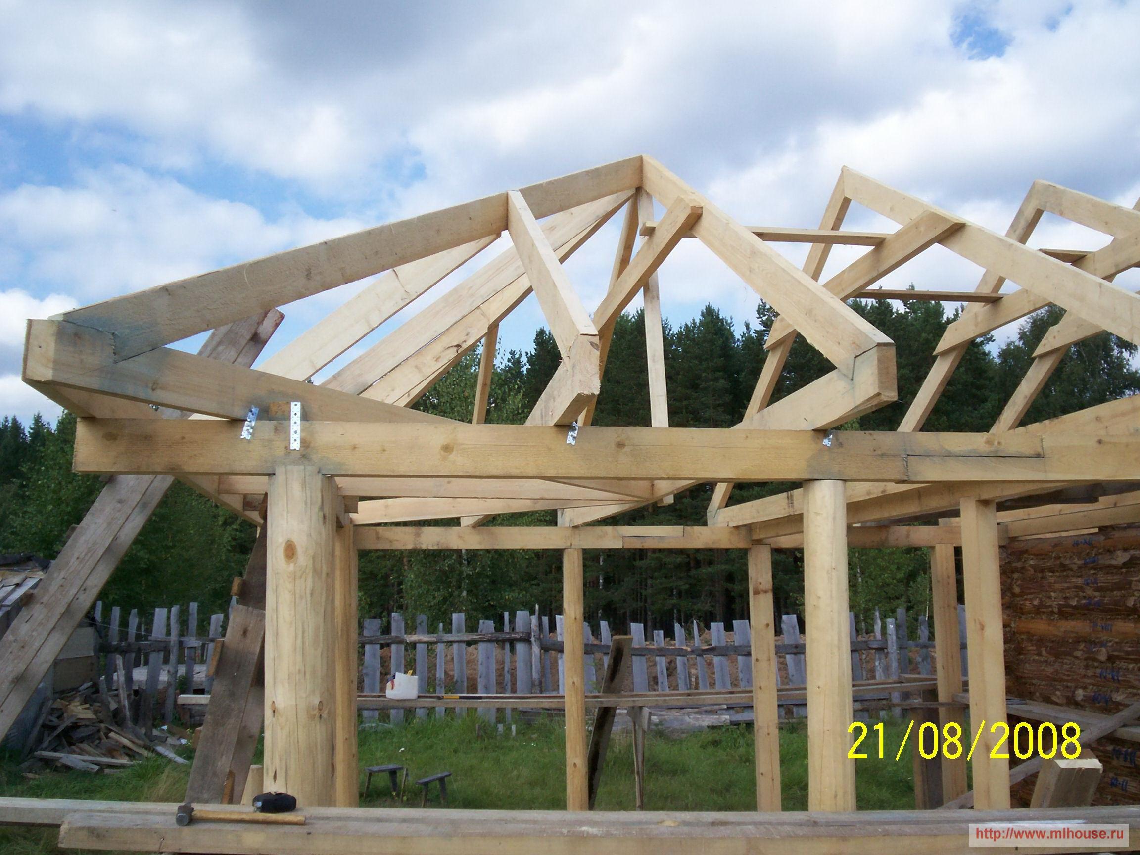 Как сделать трехскатную крышу своими руками 35