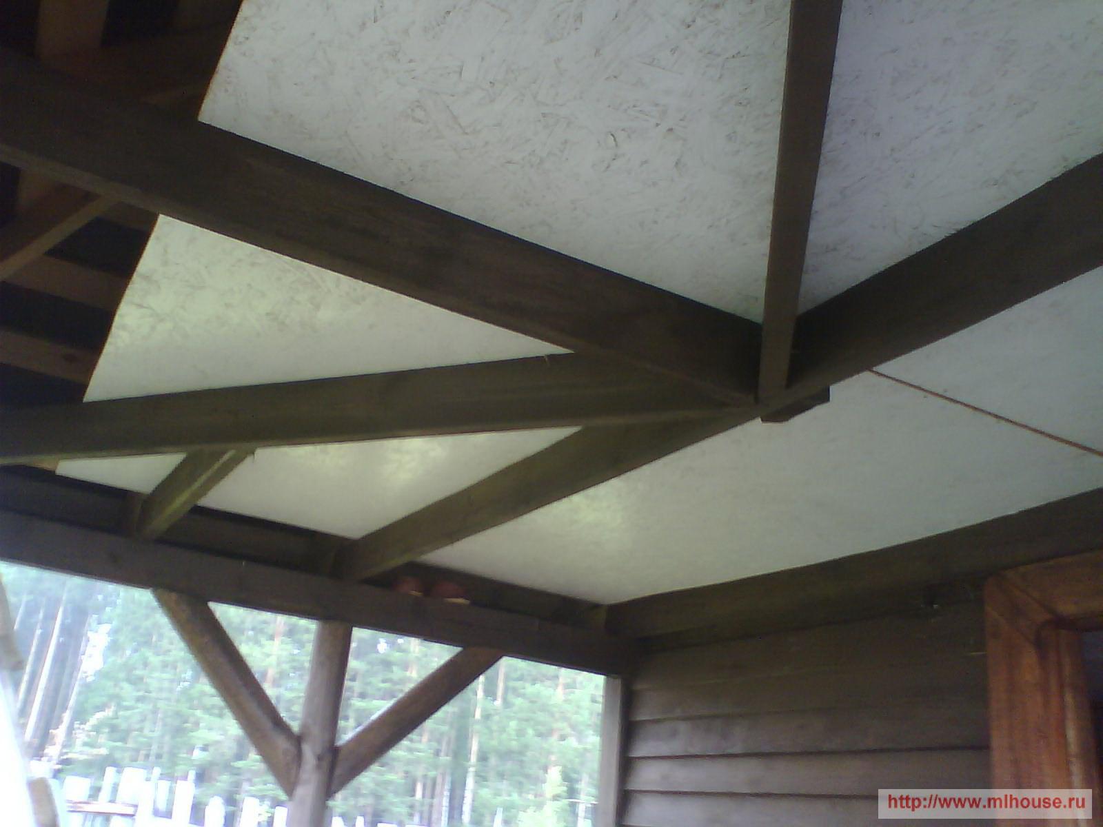 фото потолок в беседке