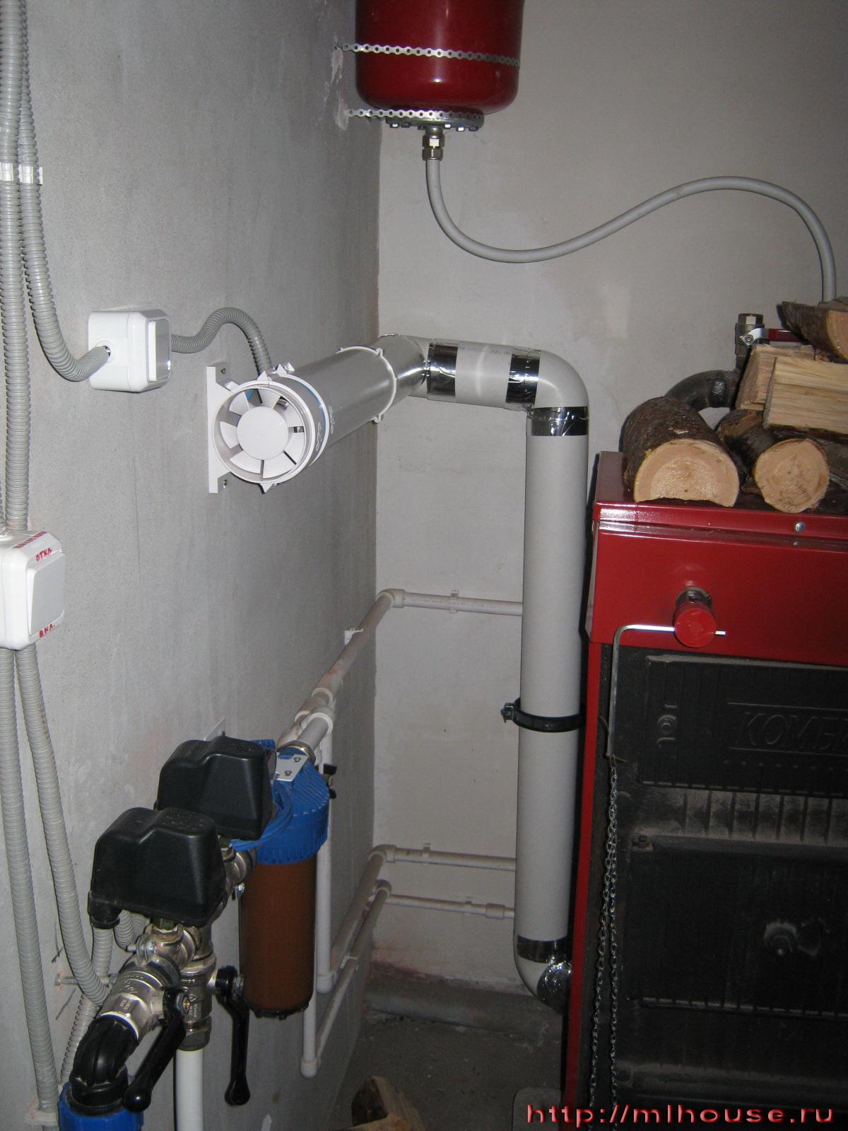 схема отопления к котлу кчм-5-к