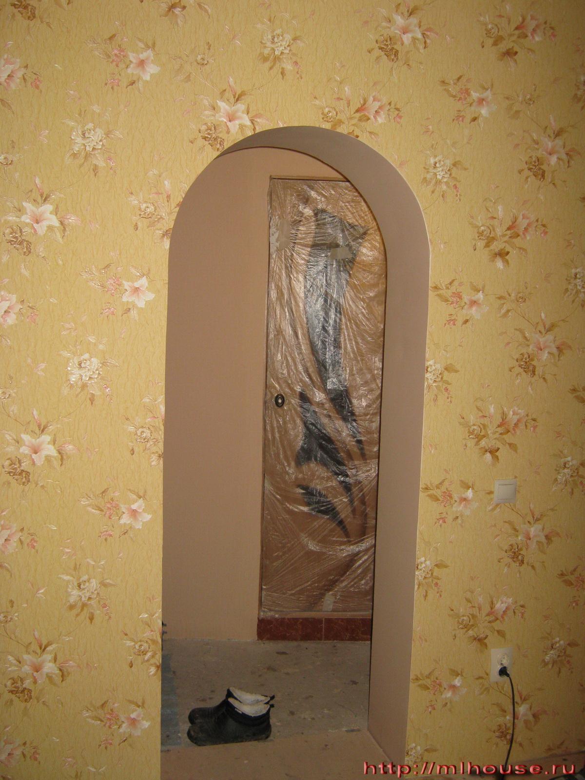 Оформление арки в квартире обоями своими руками 59