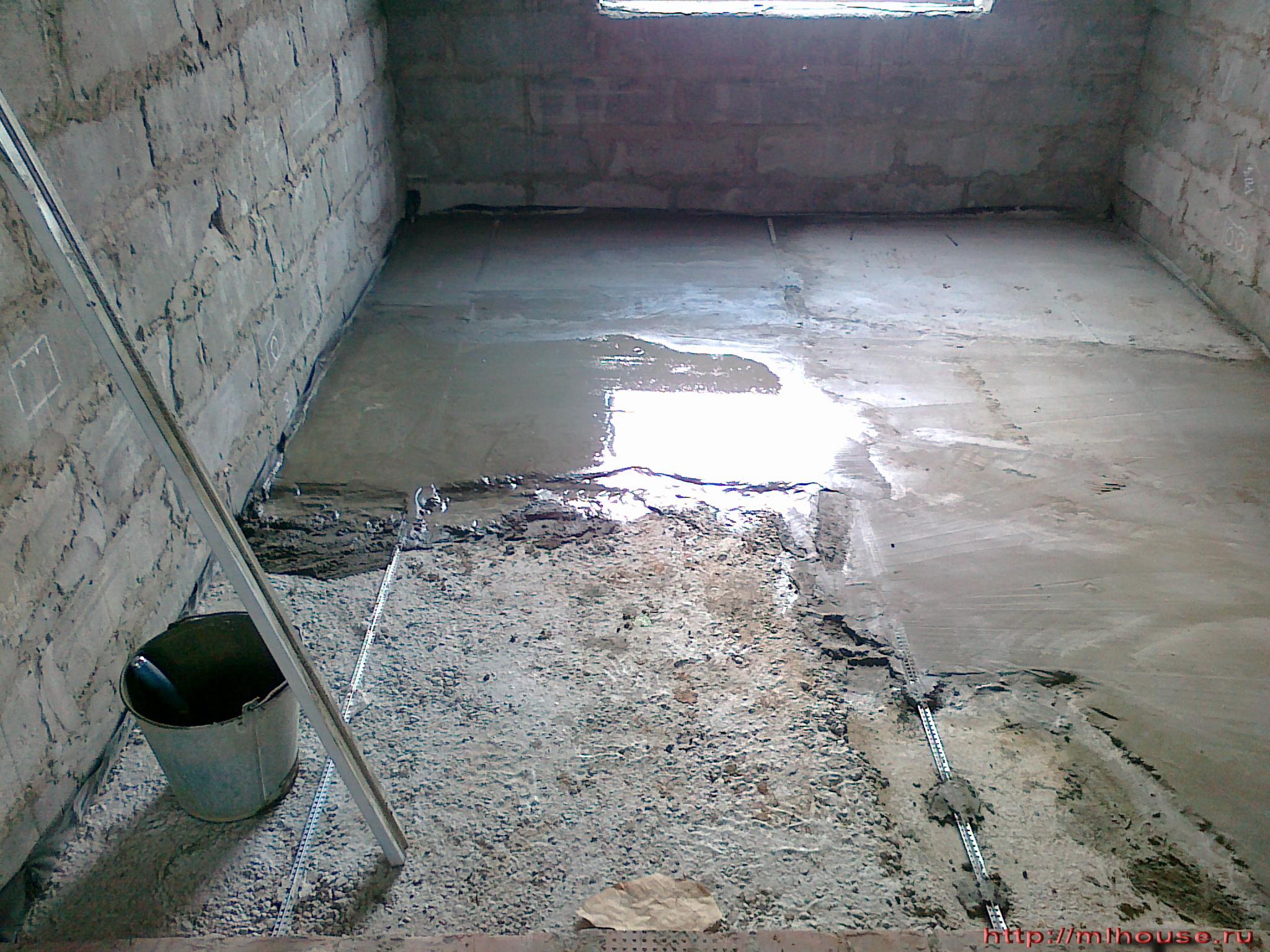 Стяжка цементного пола своими руками