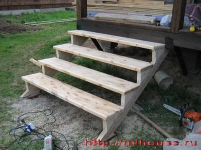Как построить ступеньки своими руками