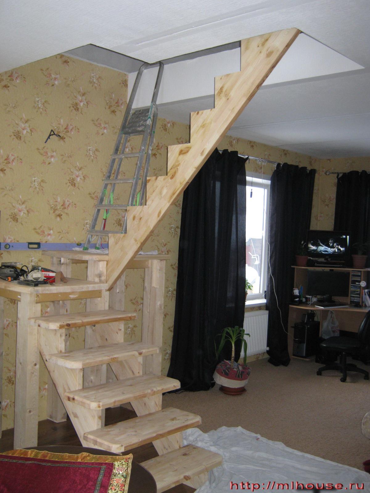 Деревянная лестница своими руками: виды конструкций и порядок сборки 52