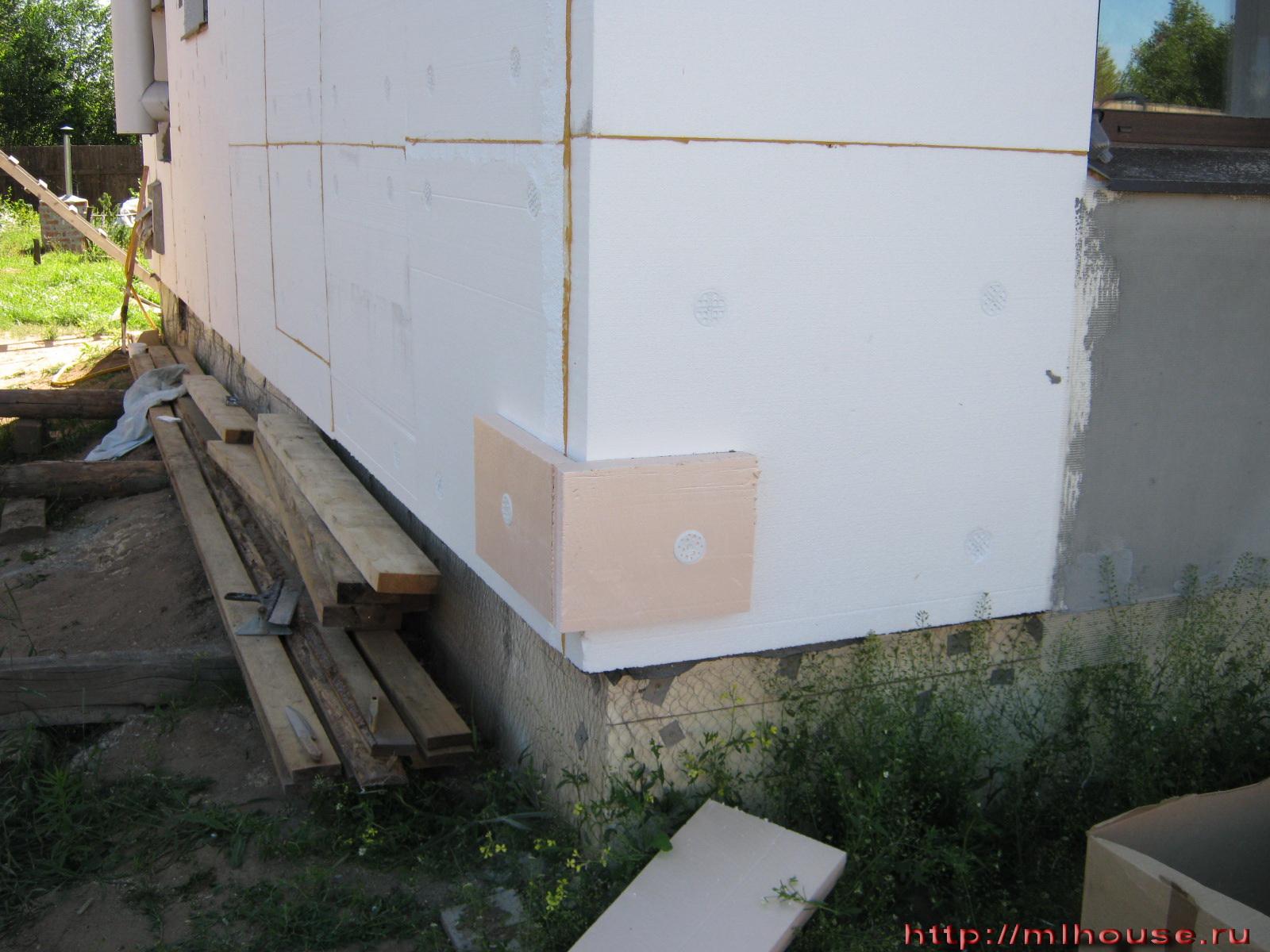 Утепление стен из пеноблока пеноплексом своими руками 50