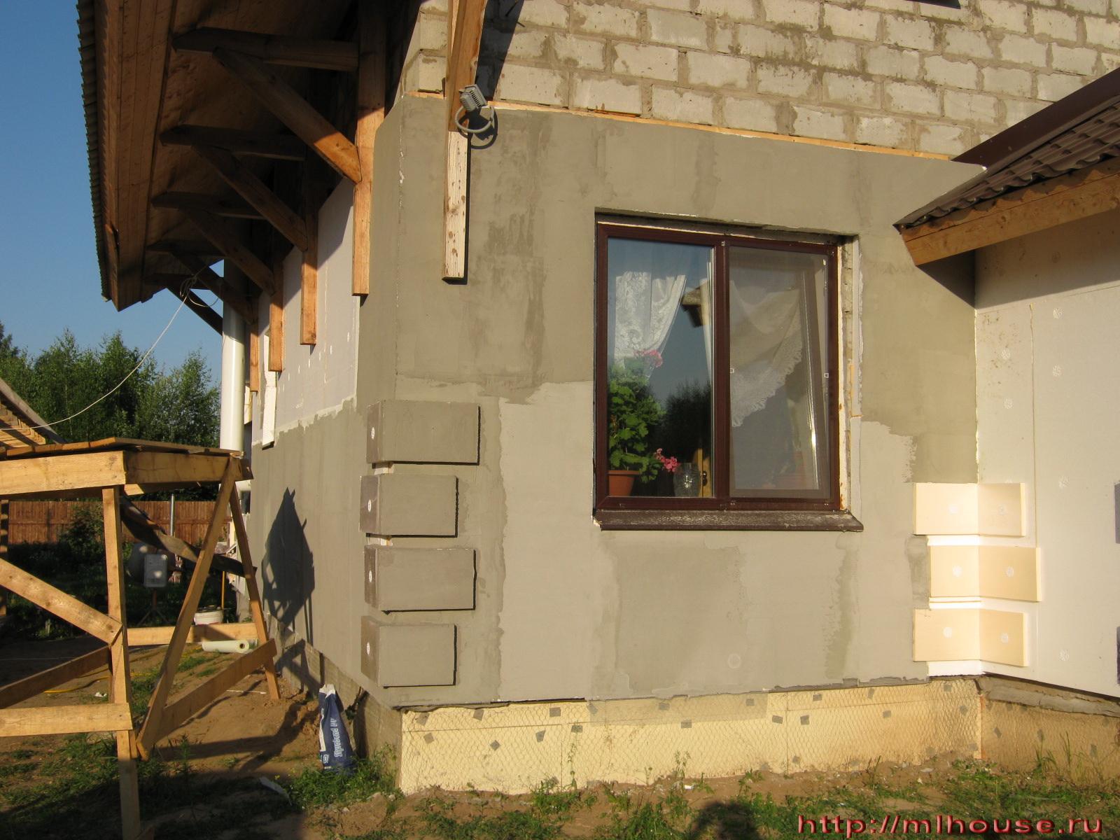 Отделка фасадов частных домов своими руками фото