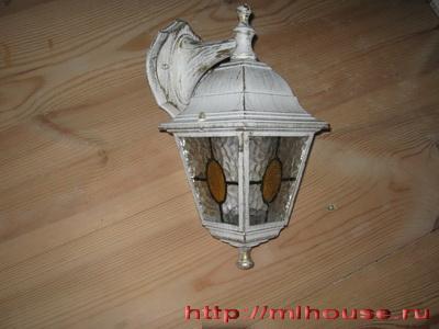 купленный светильник
