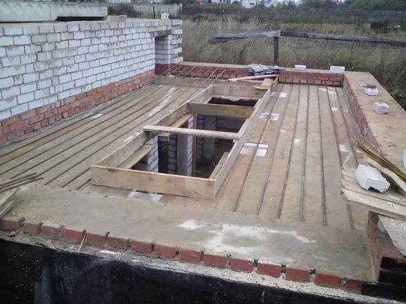 руками, постройка домика из газоблока